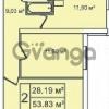 Продается квартира 2-ком 53 м² Ириновский проспект 35, метро Ладожская