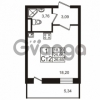 Продается квартира 1-ком 25.05 м² Европейский проспект 4к 2, метро Улица Дыбенко