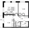 Продается квартира 2-ком 53.52 м² Европейский проспект 4к 2, метро Улица Дыбенко