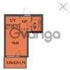 Продается квартира 1-ком 32.83 м² Зеленая улица 7, метро Озерки