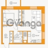 Продается квартира 1-ком 42.38 м² Комендантский проспект 58к 1, метро Комендантский проспект