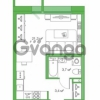 Продается квартира 1-ком 28.37 м² Комендантский проспект 58к 2, метро Комендантский проспект
