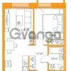 Продается квартира 1-ком 38.27 м² Комендантский проспект 58к 2, метро Комендантский проспект