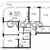 Продается квартира 4-ком 134 м² Новгородская улица 17, метро Чернышевская