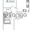 Продается квартира 2-ком 59.22 м² шоссе в Лаврики 74к 1, метро Девяткино