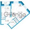 Продается квартира 1-ком 49.1 м² Школьная улица 6к А, метро Звездная