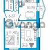 Продается квартира 2-ком 50.08 м² Школьная улица 6к А, метро Звездная