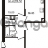 Продается квартира 2-ком 57 м² Европейский проспект 1, метро Улица Дыбенко