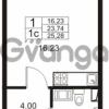 Продается квартира 1-ком 23 м² Немецкая улица 1, метро Улица Дыбенко
