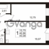 Продается квартира 1-ком 40 м² Европейский проспект 1, метро Улица Дыбенко