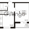 Продается квартира 1-ком 35.3 м² Школьная 6, метро Проспект Просвещения