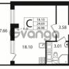 Продается квартира 1-ком 24 м² Европейский проспект 10, метро Улица Дыбенко