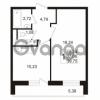Продается квартира 1-ком 37 м² Венская улица 4к 3, метро Улица Дыбенко