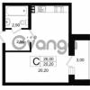 Продается квартира 1-ком 27.5 м² Выборгское шоссе 1, метро Пропект Просвещения