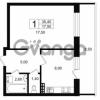 Продается квартира 1-ком 39.65 м² Выборгское шоссе 1, метро Пропект Просвещения