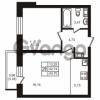 Продается квартира 1-ком 42 м² улица Кирова 11, метро Улица Дыбенко