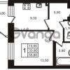 Продается квартира 1-ком 35.8 м² Выборгское шоссе 1, метро Пропект Просвещения