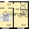 Продается квартира 1-ком 43 м² проспект Маршала Блюхера 12Б, метро Лесная