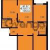 Продается квартира 4-ком 105 м² проспект Маршала Блюхера 12Б, метро Лесная