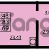Продается квартира 1-ком 34 м² проспект Маршала Блюхера 12Б, метро Лесная