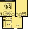 Продается квартира 1-ком 45 м² проспект Маршала Блюхера 12Б, метро Лесная