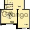 Продается квартира 1-ком 44 м² проспект Маршала Блюхера 12Б, метро Лесная