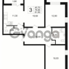 Продается квартира 3-ком 81 м² проспект Маршала Блюхера 12Б, метро Лесная