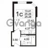 Продается квартира 1-ком 25.28 м² Берёзовая улица 1, метро Проспект Просвещения