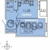 Продается квартира 1-ком 40.04 м² Ленинградское шоссе 11, метро Проспект Ветеранов