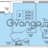 Продается квартира 2-ком 57 м² Понтонная улица 28, метро Рыбацкое