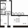 Продается квартира 1-ком 41.74 м² Арсенальная улица 7, метро Девяткино