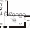Продается квартира 1-ком 43.95 м² Арсенальная улица 7, метро Девяткино