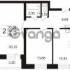 Продается квартира 2-ком 59.99 м² Арсенальная улица 7, метро Девяткино