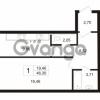Продается квартира 1-ком 46.3 м² улица Сургина 14А, метро Старая деревня