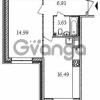 Продается квартира 1-ком 42.2 м² Смоленская улица 11к 2, метро Фрунзенская