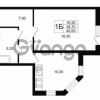 Продается квартира 1-ком 40.6 м² Ольгинская дорога 4, метро Парнас
