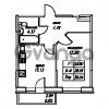 Продается квартира 1-ком 39.04 м² Юнтоловский проспект 53к 4, метро Старая деревня