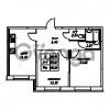 Продается квартира 2-ком 55.23 м² Юнтоловский проспект 53к 4, метро Старая деревня