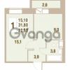 Продается квартира 1-ком 32.6 м² Областная улица 1, метро Улица Дыбенко