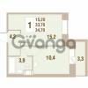 Продается квартира 1-ком 34.7 м² Областная улица 1, метро Улица Дыбенко