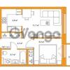 Продается квартира 1-ком 32.9 м² улица Оптиков 34, метро Старая деревня