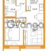 Продается квартира 1-ком 31.1 м² Яхтенная улица 24, метро Старая деревня