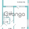 Продается квартира 1-ком 41.6 м² Центральная улица 9, метро Парнас