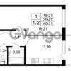 Продается квартира 1-ком 40.51 м² проспект Народного Ополчения 149, метро Проспект Ветеранов