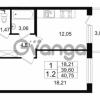 Продается квартира 1-ком 40.75 м² проспект Народного Ополчения 149, метро Проспект Ветеранов