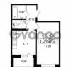Продается квартира 1-ком 37.68 м² проспект Народного Ополчения 149, метро Проспект Ветеранов