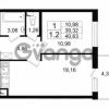 Продается квартира 1-ком 40.63 м² проспект Народного Ополчения 149, метро Проспект Ветеранов
