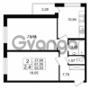 Продается квартира 2-ком 62.03 м² проспект Народного Ополчения 149, метро Проспект Ветеранов