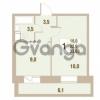 Продается квартира 1-ком 33.83 м² Областная улица 1, метро Улица Дыбенко