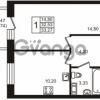 Продается квартира 1-ком 32 м² Центральная улица 83, метро Ладожская